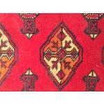 "Image of Vintage Turkaman Red Persian Rug - 2'2"" x 2'9"""