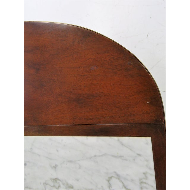 Directoire Style Marble Top Mahogany Drop Leaf Server Table - Image 2 of 8