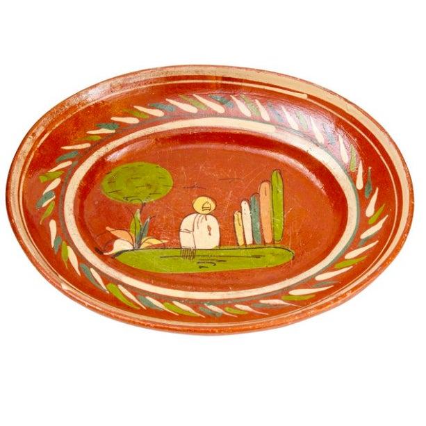 Antique 1920s Mexican Art Pottery Platter Chairish