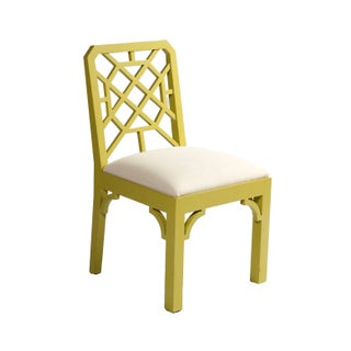 Color Pop Chartreuse Chippendale Chair