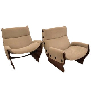 "Osvaldo Borsani Pair of Club Chairs in Rosewood, model ""Canada"" #P110"