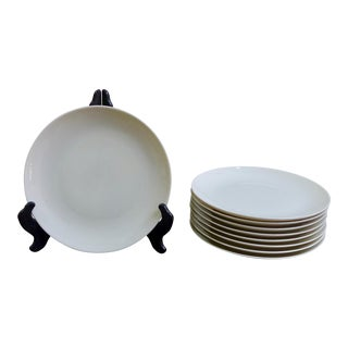 Eva Zeisel White Salad Plates - Set of 8