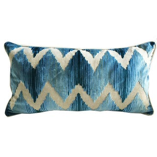 Lee Jofa Belgium Velvet Lumbar Pillows - A Pair