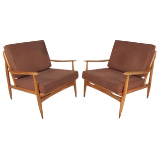 Mid-Century Modern Oak Lounge Chairs