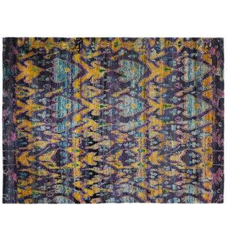 Indian Sari Silk Rug - 7′11″ × 10′6″