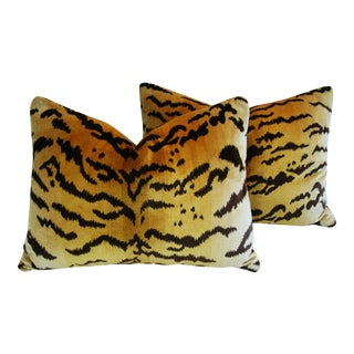 Italian Scalamandre Le Tigre Pillows - A Pair