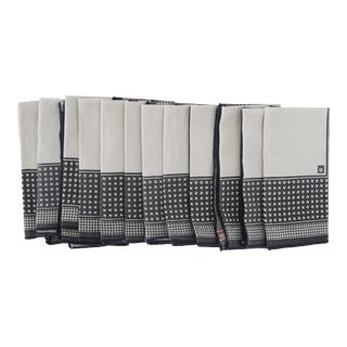 Black & White Patterned Napkins - Set of 12