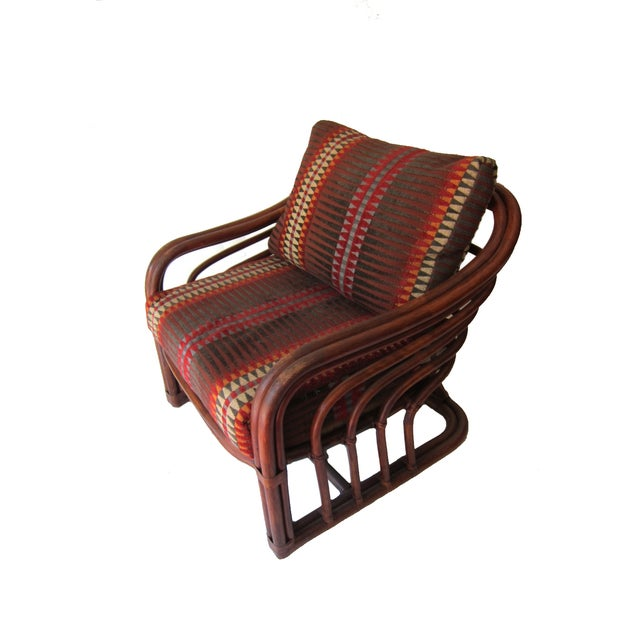 Image of Vintage Rattan Lounge Chairs - Pair