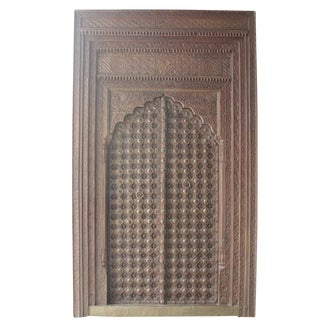 Exquisite Early 19th Century Brass and Teak Palace Door