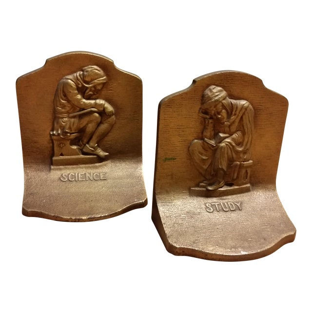 Bradley & Hubbard Science & Study Bookends - a Pair - Image 1 of 7