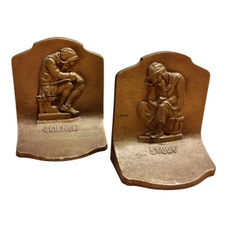 Bradley & Hubbard Science & Study Bookends - a Pair