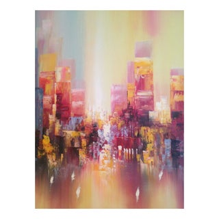 Original Abstract Art Entitled City View
