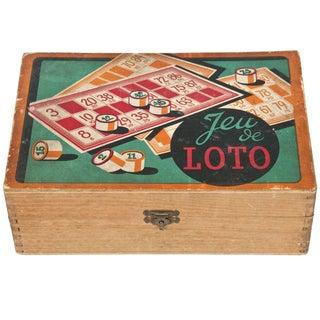 Vintage French Jeu De Loto Game