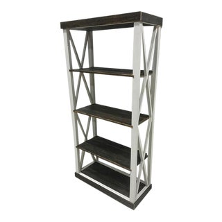 Reclaimed Barn Wood Bookcase Shelving Unit
