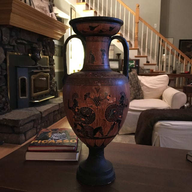 Greek Double Handle Vase - Image 7 of 10