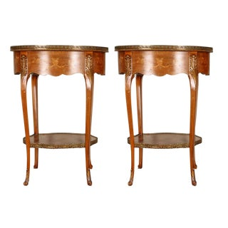 Louis XV Style Side Tables - A Pair