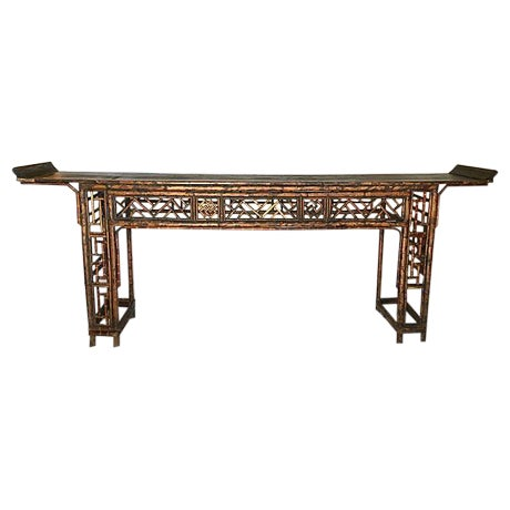 Early 19th Century Chinese Bamboo Altar Table - Image 1 of 7