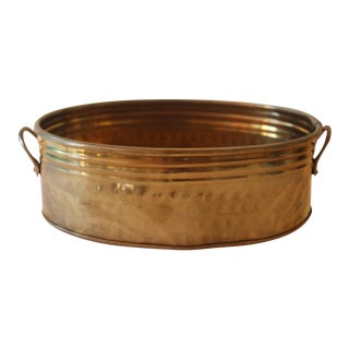 Oval Brass Planter