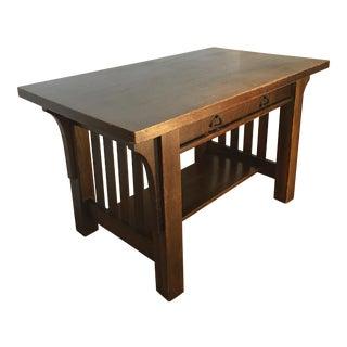 Antique Arts & Crafts Mission Oak Desk