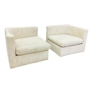Vintage Mid-Century Modern Milo Baughman Arm Chairs - A Pair