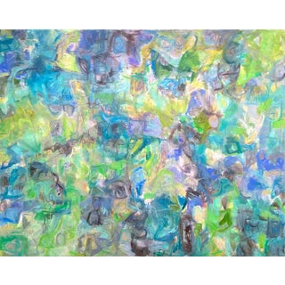 "Trixie Pitts's ""Respite"" Large Abstract Painting"