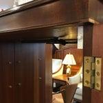 Image of Flame Mahogany Bar Cabinet