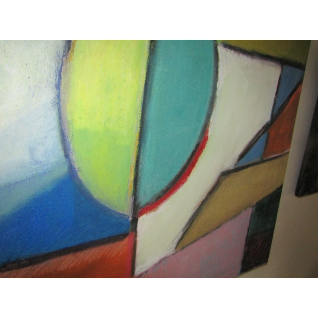 Original Signed Large Colorful Abstract Painting - Image 3 of 8