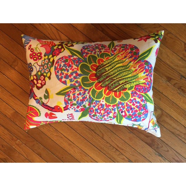 Colorful Floral Pillows - A Pair - Image 5 of 7