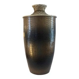 Faux Croc Skin Vase