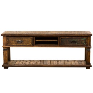 Reclaimed Solid Wood Rustic Console Table