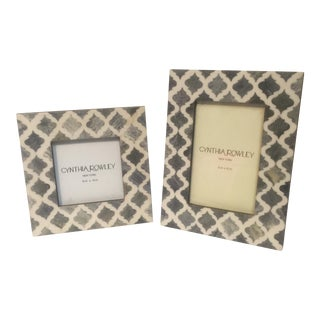 Bone Inlay Picture Frames - a Pair