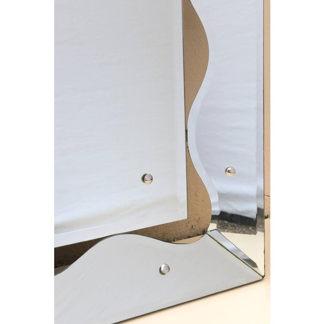 Hollywood Regency Monumental Scalloped Horizontal Mirror - Image 4 of 8