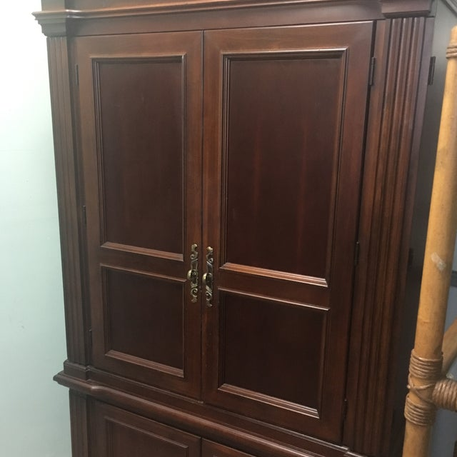 Baker Dark Wood Armoire Cabinet | Chairish