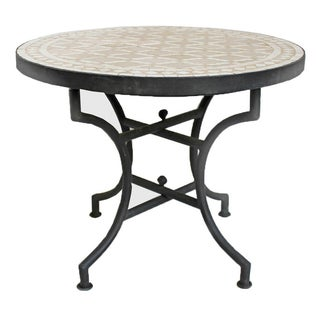 Round Mosaic Tile Side Table 24