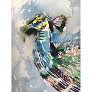 """Peacock"" Watercolor Painting"