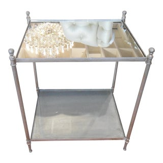 Uttermost Gannon Metal Mirrored Side Table