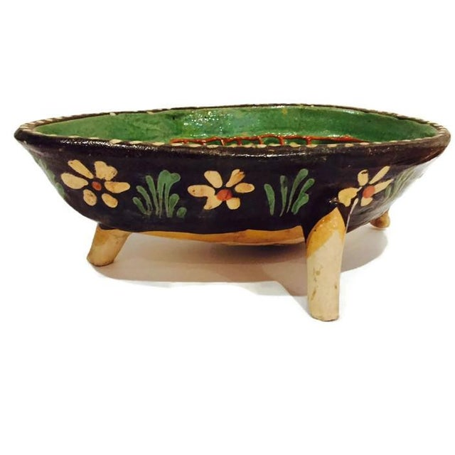 Vintage Hand Painted Pottery Bowl - Image 4 of 7