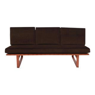 Borge Mogensen Oak Mohair and Leather Loveseat