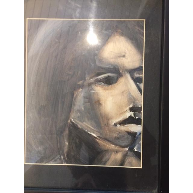 Abstract Portrait of Woman Framed Painting - Image 3 of 5