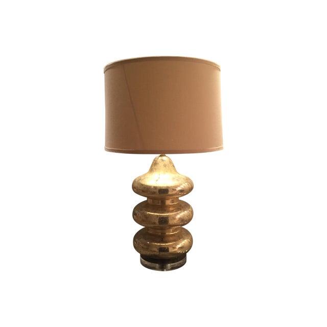 Gold Mercury Glass Lamp - Image 1 of 5