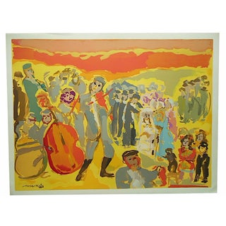 Large Mid 20th C. Mane Katz Ltd. Ed. Lithograph