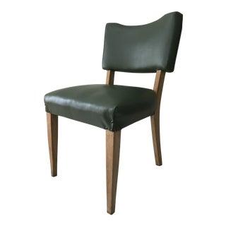 Mid-Century Green Vinyl Side Chair
