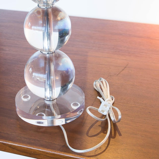 Image of Modern Acrylic Stacked Ball Lamps - A Pair