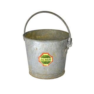 Vintage Galvanized Farm Bucket
