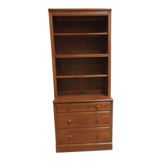 Ethan Allen Cottage Collection Chest Hutch Top Book Shelf Dresser Finish 237