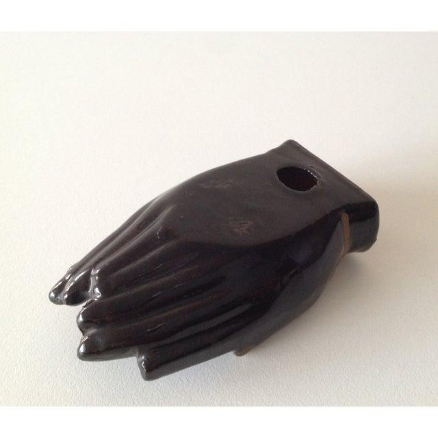 Image of Vintage Individual Hands-Shaped Portable Ashtray