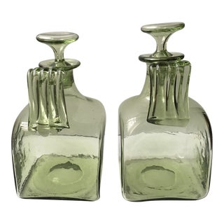 Powell & Sons 1908 Art Glass Decanters - A Pair