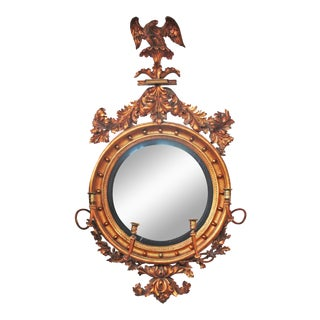 English Regency Bullseye Mirror