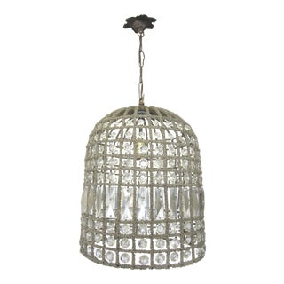 Beaded Crystal Birdcage Chandelier