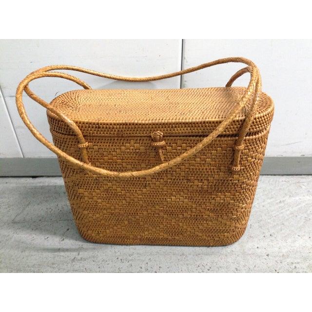 Image of Vintage Woven Basket Purse